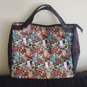 Ed Hardy by Christian Audigier Printed Tote Bag